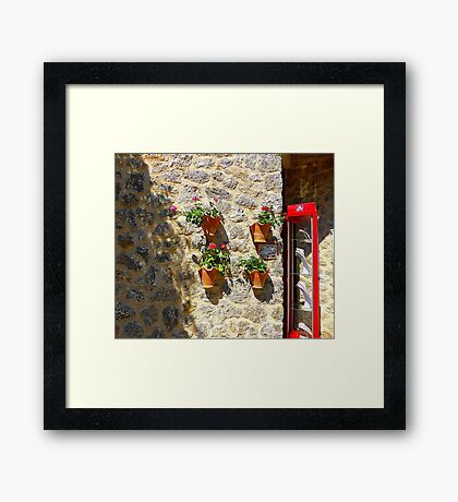 Geraniums And Necklaces Framed Print