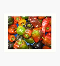 Peppers at Ann Arbor Farmers Market Art Print
