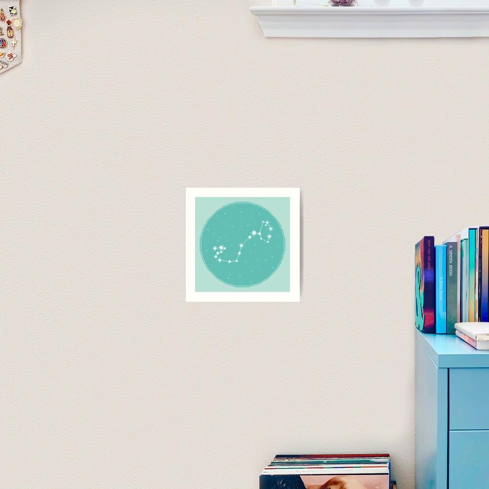 8Bit Constellations:  Scorpio Art Print