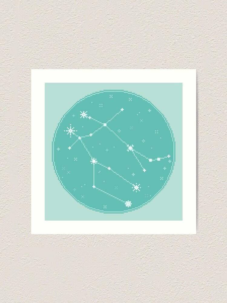Alternate view of 8bit Constellations:  Gemini Art Print