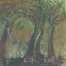 Figures in a Glade by Peter Searle ( the Elder )
