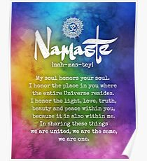 SPIRITUAL NAMASTE - Phone Case, Shirts, Hoodies & Stickers Poster