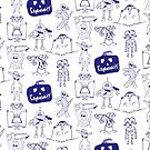 Community Halloween repeat pattern. by EdwardDunning