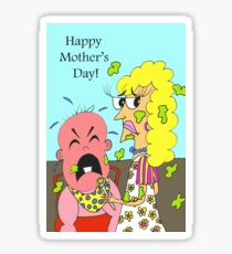 Funny Happy Mother's Day, Big Baby Sticker