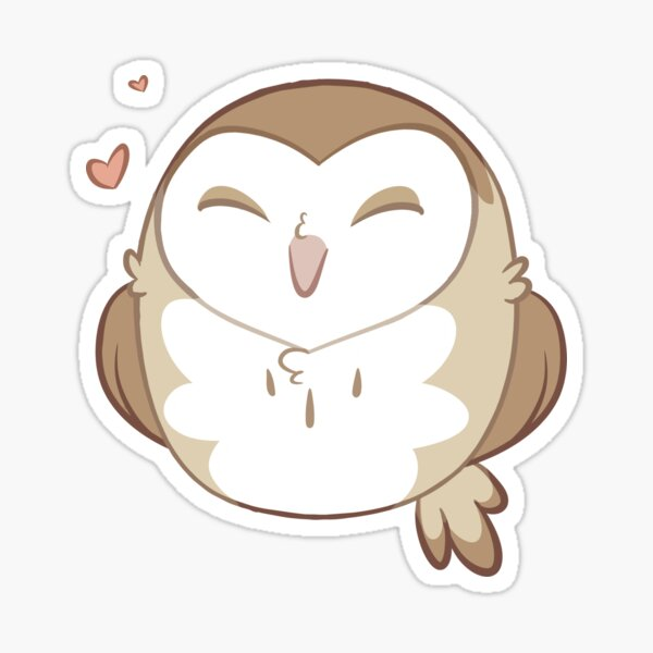 Chibi Barn Owl Sticker