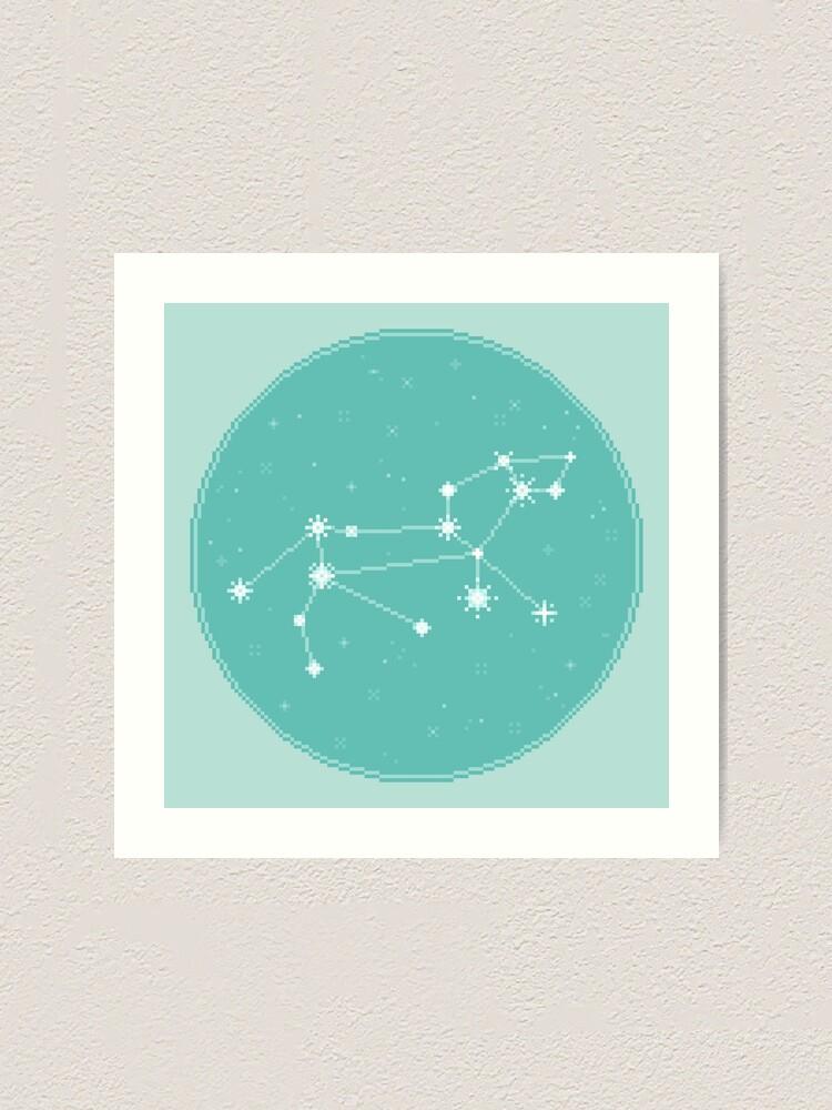 Alternate view of 8Bit Constellations:  Leo Art Print