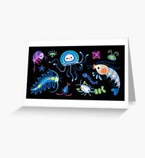 Zooplankton Greeting Card