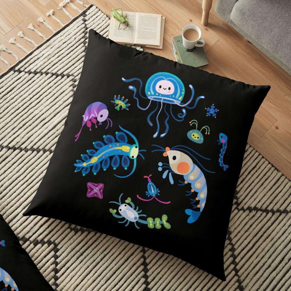 Zooplankton Floor Pillow