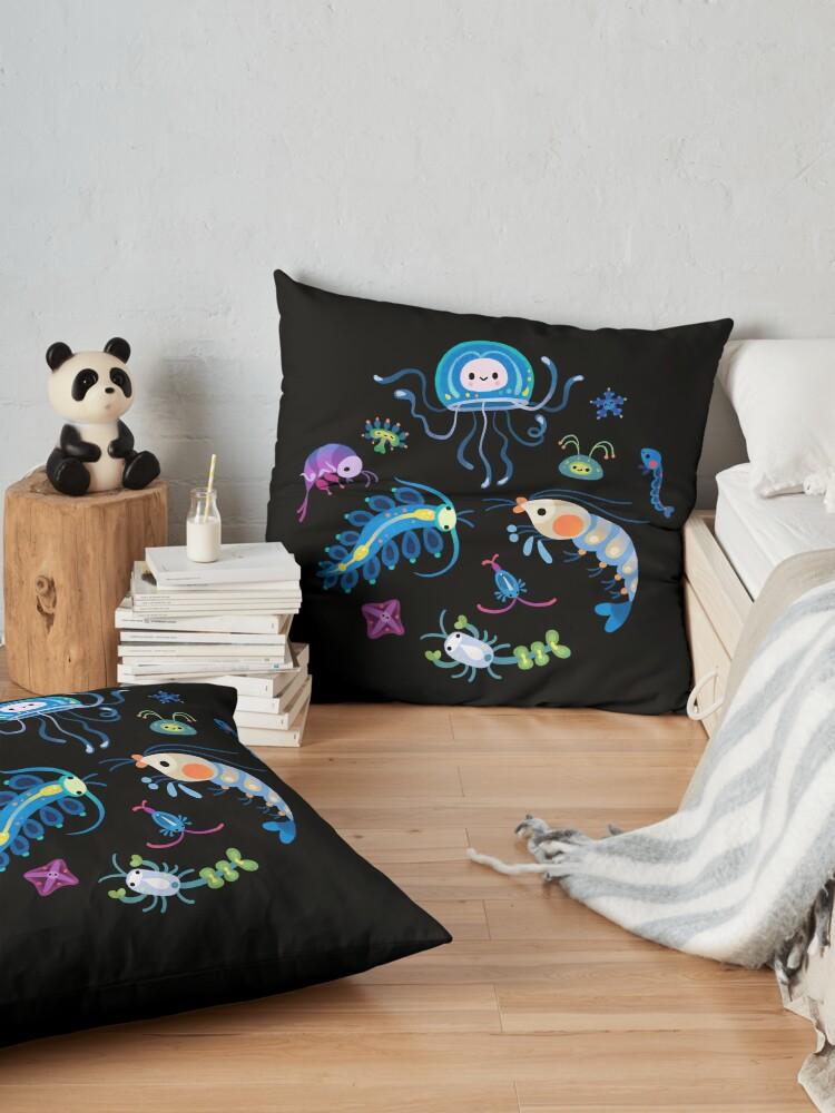 Alternate view of Zooplankton Floor Pillow