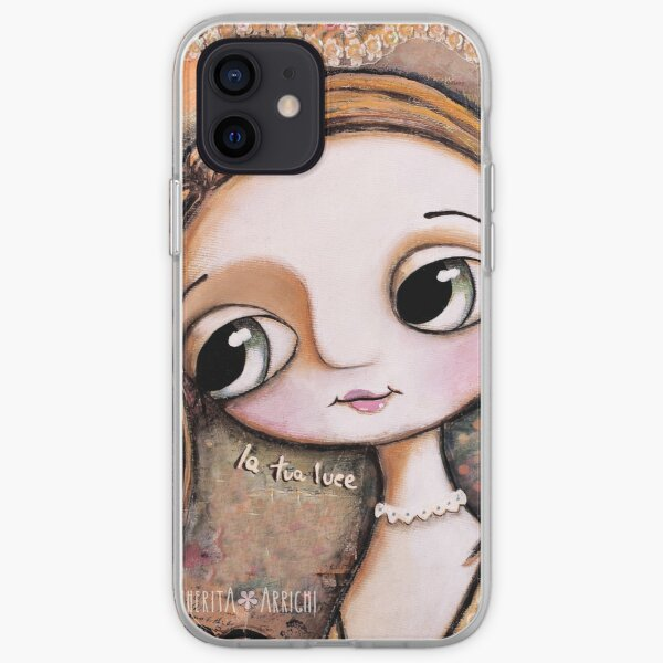 The blond girl, with big eyes iPhone Soft Case