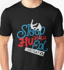 Sleep Jiu Jitsu Eat Repeat Slim Fit T-Shirt