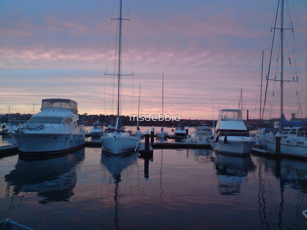 Birkenhead Point at dusk (1) by msdebbie
