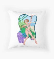 Adventures of the Princess on Tiki-6 Throw Pillow