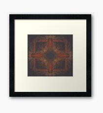 Red Charcoal Framed Print