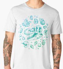 Geo-rex Vortex | Turquoise Ombré Men's Premium T-Shirt