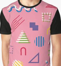 Memphis style abstract geometric seamless pattern. Composition 6 Graphic T-Shirt