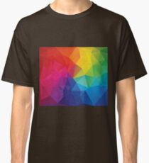 Multi Color Abstract Rainbow Low Poly Design Classic T-Shirt