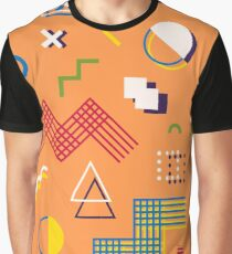 Memphis style abstract geometric seamless pattern. Composition 10 Graphic T-Shirt