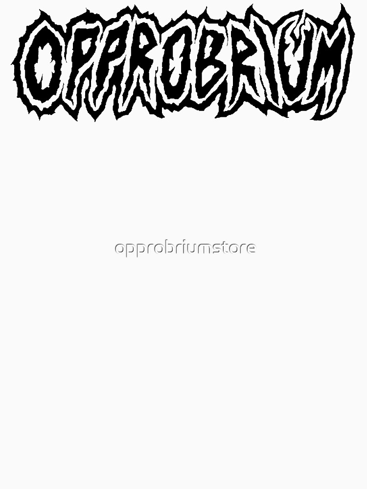 Opprobrium Logo (Black) by opprobriumstore