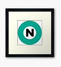 東京メトロ 南北線ロゴ -Tokyo Metro Nanboku Line logo- Framed Print