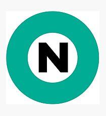 東京メトロ 南北線ロゴ -Tokyo Metro Nanboku Line logo- Photographic Print