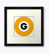 東京メトロ 銀座線ロゴ -Tokyo Metro Ginza Line logo- Framed Print