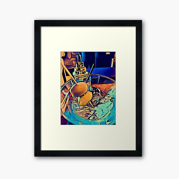 "Martini Madness ""Humble Beginnings"" By Tony DuPuis Framed Art Print"