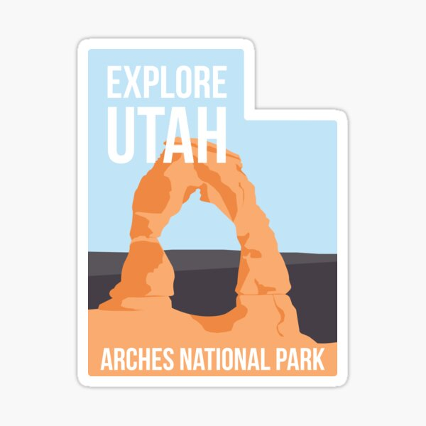 Delicate Arch - Day Sticker