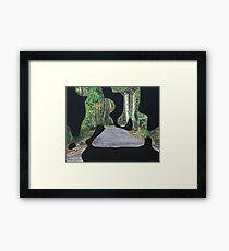 Gold Coast Hinterland Landscape modern abstract Framed Print