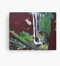 Russell Falls. Modern abstract landscape painting Canvas Print