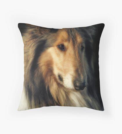 Rough Collie Throw Pillow