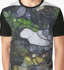 Horseshoe Falls Tasmainia Landscape modern abstract Graphic T-Shirt