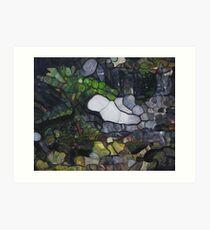 Horseshoe Falls Tasmainia Landscape modern abstract Art Print