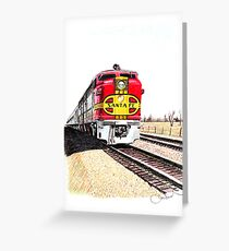 """Santa Fe"" Greeting Card"
