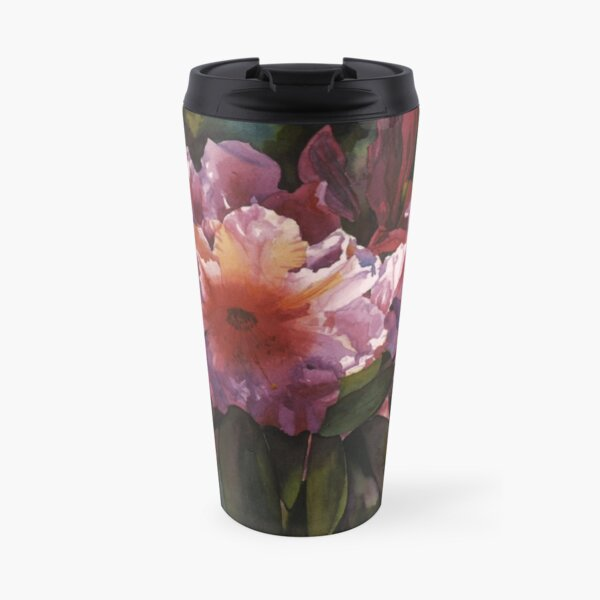 """Watercolor """"Autumn Gold"""" Rhododendron  Travel Mug"""
