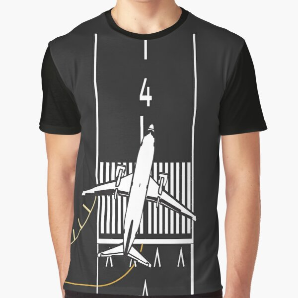 Cleared For Takeoff, Runway 4 Left Graphic T-Shirt