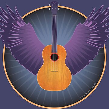 Winged Ukulele by alexiares