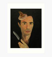Doug Moran Semi Finalist painting Self Portrait of an artist Art Print