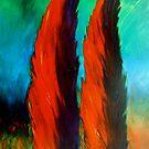BURNING CYPRESSES by JoeRomano