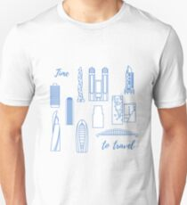 Unusual Japanese architecture. Travel and leisure. Unisex T-Shirt