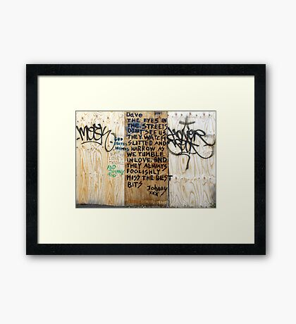 And Johnny Too Framed Print