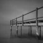 Little Pier in Black and White by Ralph Goldsmith