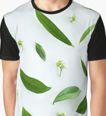 Green leaves background Graphic T-Shirt
