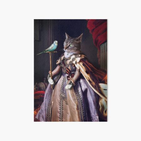 Cat and Budgie Portrait -  Big Cat and Cyril Art Board Print