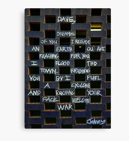 Johnny's Dreaming Canvas Print