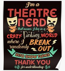 Theatre Nerd Funny Definition Poster