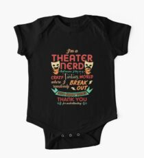 Theater Nerd Funny Gift One Piece - Short Sleeve