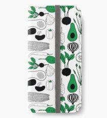 Vegetable Pattern iPhone Wallet/Case/Skin