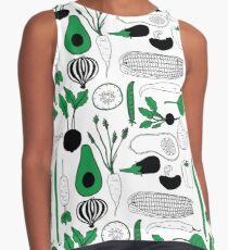 Vegetable Pattern Contrast Tank