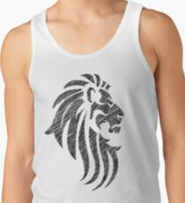 Lion Tribal Tattoo Style Distressed Design  Tank Top
